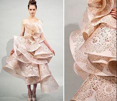 Marchesa laser cut dress