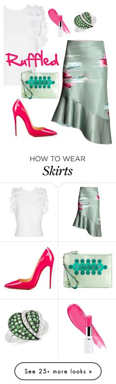 """Pink Mint"" by sunnydays4everkh on Polyvore featuring 3.1 Phillip Lim, Christian Louboutin, Anya Hindmarch and Ice"