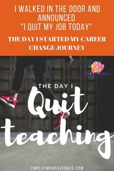 i quit teaching and never looked back quit jobi quitcareer changeprimary school teachercareer - Career Change For Teachers Career Change To Teaching