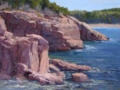 Rocky Coast by Kathleen Dunphy Oil ~ 12 x 16
