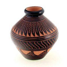 Navajo Native American Small Vase By Aaron Davis
