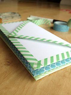 DIY Washi Tape Envel