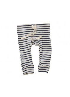 Cute Fawn Shoppe: MABO Organic Leggings / Natural with Blue