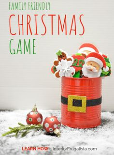 A family friendly Holiday Ice Breaker Party Game for everyone, young and old, that everyone can enjoy by Interior Frugalista that is easy to make and budget-friendly with dollar store finds. #diychristmas #holidaygames #festivechristmasideas Holiday Games, Christmas Games, Christmas Crafts, Family Friendly Holidays, Ice Breaker Games, Ice Breakers, Party Games, Friends Family, Dollar Stores