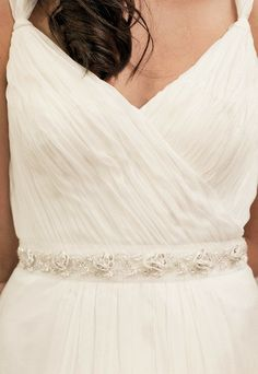 As delicate as a Snowflake this sash brings no chill, only ice with it's embellishments and embroideries $165 | Inspirations | Bride & Groom