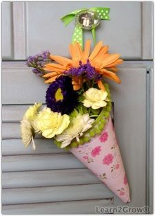 Tussie Mussie for May Day or any day!  From the era of Queen Victoria.  The language of flowers speaks volumes!