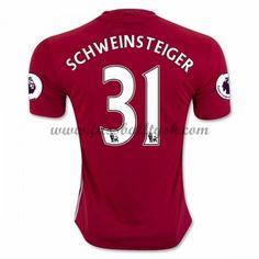 Premier League Fussball Trikots Manchester United 2016-17 Schweinsteiger 31 Heimtrikot Kurzarm
