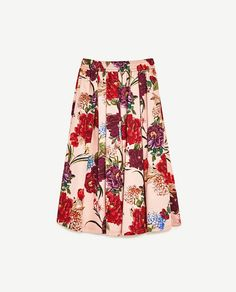 Image 8 of FLORAL PRINT MIDI SKIRT from Zara