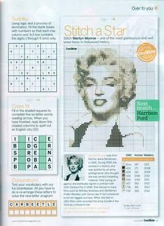 Marilyn Monroe From Cross Stitcher N°200 June 2008