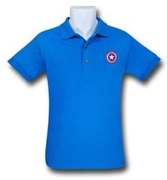 Captain America Bright Blue Polo Shirt