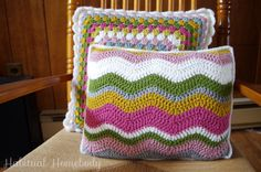 What's on my hook: Ripple stitch pillow | Habitual Homebody