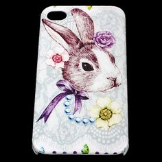 Rabbit Hard skin case cover for iPhone 4