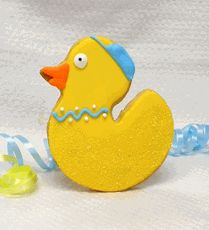 Rubber Duck Cookies are 3 x 4 Duck is yellow with orange beak. Freshly baked and individually wrapped in a cellophane bag with a colored ribbon. Baby Shower Cake Sayings, Baby Shower Party Favors, Boy Baby Shower Themes, Baby Shower Cookies, Baby Shower Parties, Baby Shower Decorations, Baby Shower Gifts, Elephant Baby Shower Cake, Baby Shower Duck