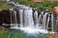 Lower Navajo Falls- Havasupai. This is at the South end of the Grand Canyon, and is located on a Native American reservation. Apparently it's the most beautiful place and not many people know about it as it is not part of the National Park.