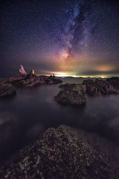 milky way on the sea by 杨 昊天 on 500px