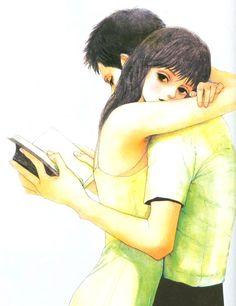 Hold me. Embrace me. Think only of me Manga Art, Manga Anime, Anime Art, Pretty Art, Cute Art, Art Sketches, Art Drawings, Japon Illustration, Manga Covers