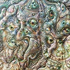 Jamming with deep dream. First hand over. #deepdream #collaboration #ai #paradolia by artserge_uk