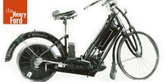 """c.1894 The German-built Hildebrand & Wolfmuller motorcycle was the first motorized, two-wheeled vehicle sold to the public on a series production basis. Hildebrand & Wolfmuller was also the first company to refer to the device as a """"motorcycle"""""""