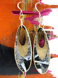Reclaimed Skateboard Earrings by MuKee on Etsy, $24.00
