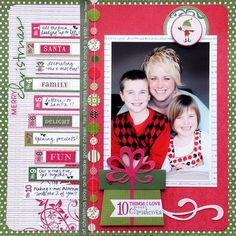 #papercraft #scrapbook #layout    WO 10 Things I Love About Christmas