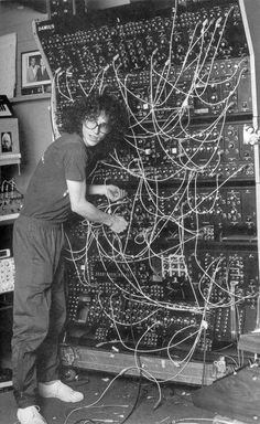 1982 Steve Porcaro with a Polyfusion Modular Synth.