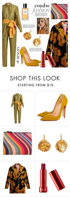 """One and Done: Jumpsuits"" by pesanjsp ❤ liked on Polyvore featuring Rhode Resort, Christian Louboutin, Paul Smith, Renee Lewis, Gucci, Anja, Chanel and jumpsuits"