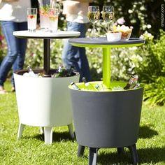 Festas ao ar livre pedem vinhos sempre fresquinhos. Aqui uma ótima dica para deixá-los na temperatura ideai e, de quebra, decorar o ambiente! #wine #vinho #espumante #decor #decoracao