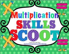 Get your students up and moving with this fast paced and fun math activity called Scoot! This pack includes 11 multiplication scoot games that focus on different multplication skills! $