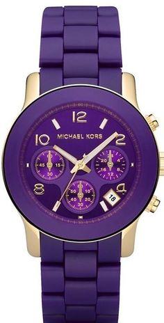 Michael Kors purple watch.