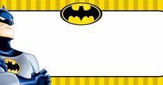 Etiquetas escolares para imprimir Batman                                                                                                                                                                                 Mais