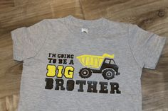 BIG BROTHER dump truck ANNOUNCEMENT kids by myeverydaydesign