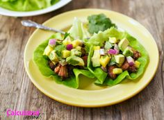 A Calculated Whisk: Slow-Cooker Carnitas Lettuce Wraps with Pineapple & Avocado Salsa