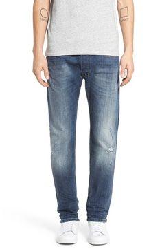 DIESEL 'Safado' Slim Straight Leg Jeans. #diesel #cloth #