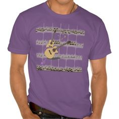 Mens Music & Guitars Purple Organic T-Shirt by MoonDreams Music #mens #tshirt #purple #organic #music #guitars #moondreamsmusic #musician #cool