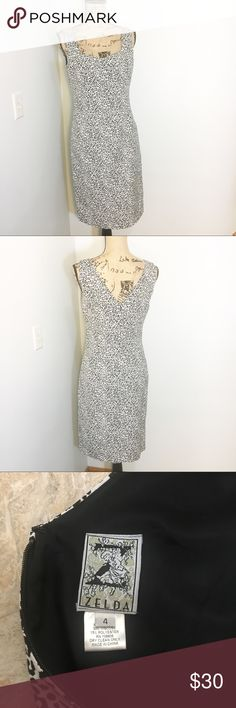 """Black and White Leopard Print Dress Brand new without tags. Waist is about 17"""" laid flat and length is 38.5"""" from shoulder. Zelda Dresses Mini"""