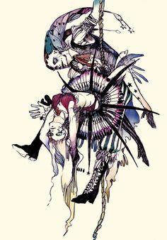 Akiya Kageichi Art And Illustration, Cool Artwork, Dark Art, Art Forms, Les Oeuvres, Art Inspo, Art Reference, Illustrators, Fantasy Art