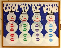 Cool To Be Kind Winter Character Building Bulletin Board winter bulletin board ideas Counseling Bulletin Boards, Kindness Bulletin Board, Bulletin Board Paper, Preschool Bulletin Boards, Bulletin Board Display, School Counseling, Bullentin Boards, Character Bulletin Boards, Nurse Bulletin Board