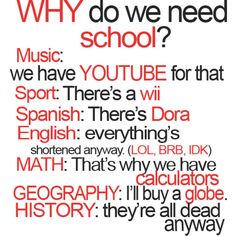 funny school quotes - Google Search