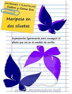 Plantillas de mariposas y bichejos