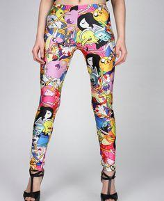Adventure Time Leggings-Adventure Time Clothing-Kawaii Clothing-Lady Rainicorn Costume-Princess Leggings-Pants-Lumpy Space Princess Tights on Etsy, $19.90