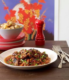 Australian Gourmet Traveller Spanish recipe for Pyrénées-style slow-cooked lamb with sherry and paprika by Frank Camorra from Melbourne restaurant MoVida.