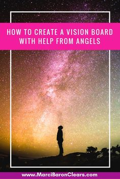 A vision board clearly puts the energy of what you want into the universe. Call in your angels to help to manifest your every desire.