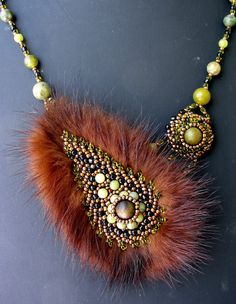 FREE SHIPPING Bead embroidered / beaded by Gemsplusleather, $99.00