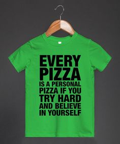 Grass 'Personal Pizza' Tee - Toddler & Kids #zulily #zulilyfinds (funny!!!)