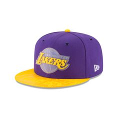 pretty nice 480bc 8bc29 Los Angeles Lakers New Era Team Color On-Court Snapback Adjustable Hat -  Purple