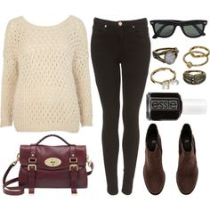 Style #9356 by vany-alvarado on Polyvore featuring moda, River Island, H&M, Mulberry, Mudd, Essie and Ray-Ban