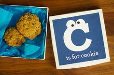 Imprimible para caja de galletas // little monster: c is for gluten free chocolate chip oatmeal cookies