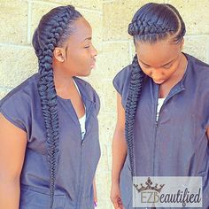 Hairstyles for black women # double ghana Braids 17 Hot Summer Hairstyle For Women With Afro Hair Afro Hairstyles, African Hairstyles, Summer Hairstyles, Ghana Braid Styles, Ghana Braids, Braids Cornrows, Braided Hairstyles For Black Women, Braids For Black Women, Black Braids