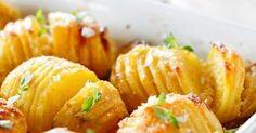 Hasselbackan perunat ovat ruotsalainen klassikko. Potut maistuvat esimerkiksi pihvin tai paistetun kalan kanssa.