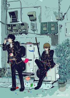Watch anime online in English. All Anime, Anime Guys, Manga Anime, Anime Art, Samurai, Gintama Funny, Gintama Wallpaper, Okikagu, Animation